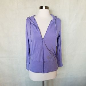 🌼{ victoria's secret } lavender zip up hoodie